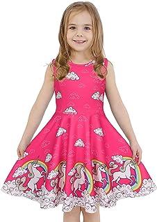 فستان لابيكا للفتيات بدون أكمام و بأكمام طويلة للبنات الصغار الفتيات ذو رسومات حورية البحر و أحادي القرن فساتين عاديّة