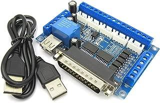 5 ejes CNC Breakout Board Controlador de motor paso a paso MACH3 Controlador de módulo de control de puerto paralelo con acoplador óptico Cable USB de Ballylelly