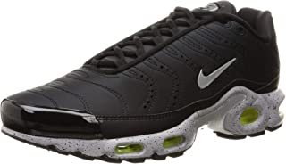 Men's Air Max Plus Black/Matte Silver/Volt/Wolf Grey Mesh Running Shoes 9.5 M US