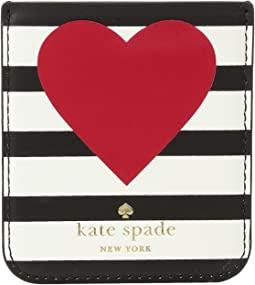 Kate Spade New York - Heart Stripe Sticker Pocket