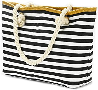 MeliMe large Beach Bags for Women Straw Beach Bags and Totes with Zipper for Pool Gym Travel Daily Bags, Waterproof Lining