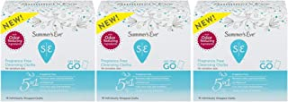 Summer's Eve Cleansing Cloths | Fragrance Free | Individually Wrapped |16 Count | Pack of 3