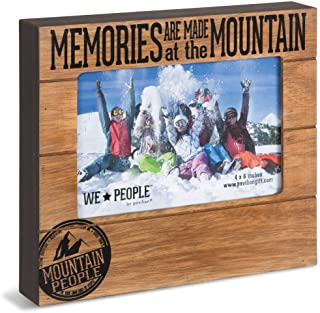 Pavilion Gift Company 67068 Memories are Made at The Mountain Photo Frame, 7-1/2 x 6-3/4