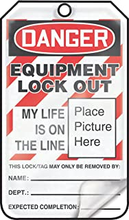 Accuform MLT603LCP Self-Laminating Lockout Tag, Legend