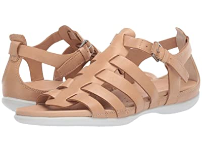ECCO Flash Strappy Sandal (Powder/Dune/Rose Dust Cow Nubuck/Cow Nubuck/Cow Nubuck) Women