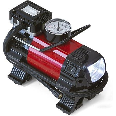 Ferrestock Ca105 Mini Auto Kompressor Dc 12 V Und 220 V Mit Eingebautem Manometer Auto