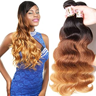 Beauty Forever Hair Peruvian Ombre Virgin Hair 16 18 20 inch Body Wave Hair Weave 3 pieces/Lot Bundles 100% Human Hair Ext...