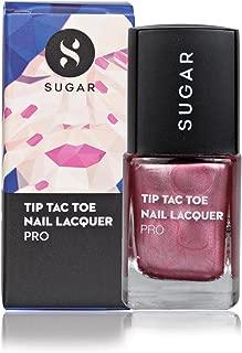 SUGAR Cosmetics Tip Tac Toe Nail Lacquer 042 Rock And Rose (Metallic Rose Gold), 10 ml