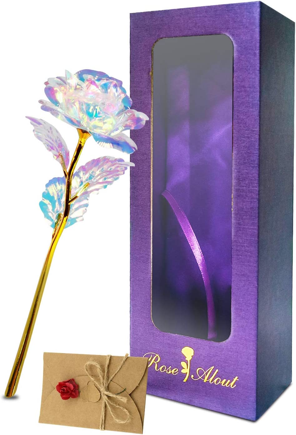 Valentines Day 24K Gold Safety and trust Galaxy Rose Mothers Girlfriend 40% OFF Cheap Sale Gifts for