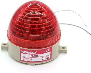 Industrial DC 12V Red LED Warning Light Bulb Signal Tower Lamp N-3072B Steady Flash
