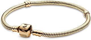 انسيال ذهب اصفر عيار 14 قيراط شكل ثعبان بقفل شكل برميل من باندورا Moments - ذهبي