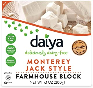 Daiya Monterey Jack Style Block Dairy-Free, Gluten-Free, Soy-Free and Plant Based Cheese 7.1 oz (Pack of 8)
