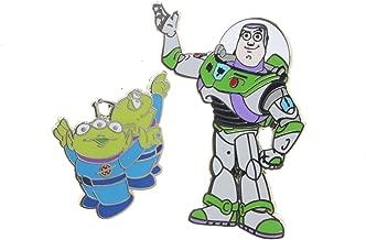 Disney Pin Toy Story Buzz Lightyear and Aliens Little Green Men