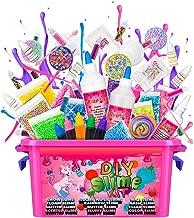 DIY Slime Kit for Girls - Ultimate Slime Making Kit for Boys Kids, Make Your Own Slime Supplies Stuff Kit Party With Recipes Instant Snow Clear Glue White Glue Foam Balls Glitter Fluffy Slime