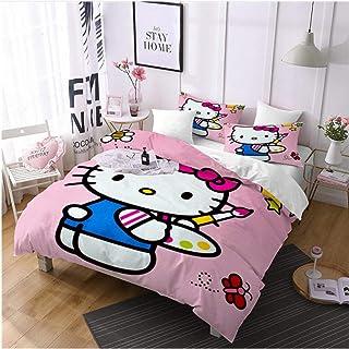 Nbaobao Set Copripiumino Hello Kitty Per Ragazze Morbido E Traspirante 100 Microfibra 135 X 200 Cm 80 X 80 Cm X 2 Casa E Cucina Copripiumini Bepco Ee