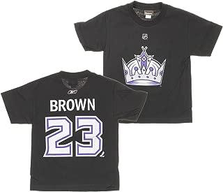 Reebok NHL Los Angeles Kings Big Boys Youth Dustin Brown #23 Jersey Shirt, Black