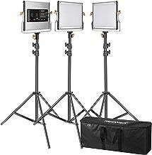 Neewer Kit de 3 Luces LED de Video Regulables Bi-Color 480 y Soporte:3200-5600K Panel CRI 96+ LED,Soporte de Luz Premium de 200cm y Bolsa de Transporte para Fotografía de Estudio Grande