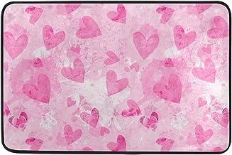 JSTEL Nonslip Door Mat Home Decor, Retro Valentines Day Hearts Durable Indoor Outdoor Entrance Doormat 23.6 X 15.7 Inches