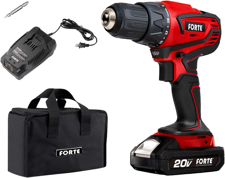 Latest item FORTE 1 2-Inch Max 41% OFF 20V Max Cordless Tool Kit Drill Power Vari Driver