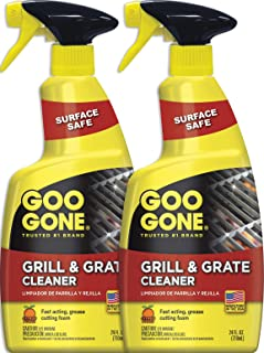 Goo Gone Grill and Grate Cleaner (2 Pack) Cleans Cooking Grates and Racks - 24 Ounce