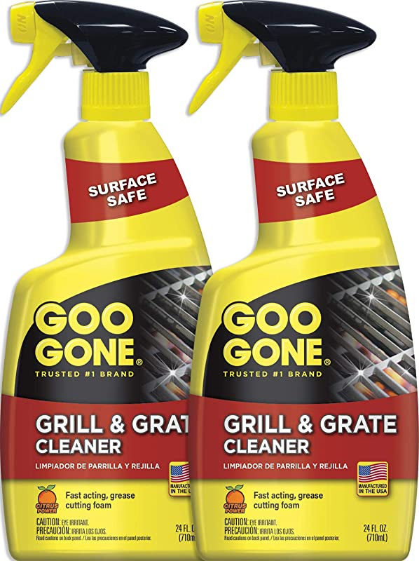 Goo Gone Grill And Grate Cleaner 2 Pack Cleans Cooking Grates And Racks 24 Ounce