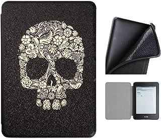 Capa Kindle Paperwhite 10ª geração à prova d'água - Função Liga/Desliga - Fechamento magnético - Silicone - Skull