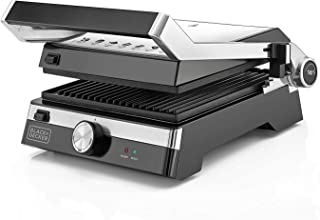 Black+Decker 2000W Family Health Grill, Black/Silver, CG2000-B5, 2 Year Warranty