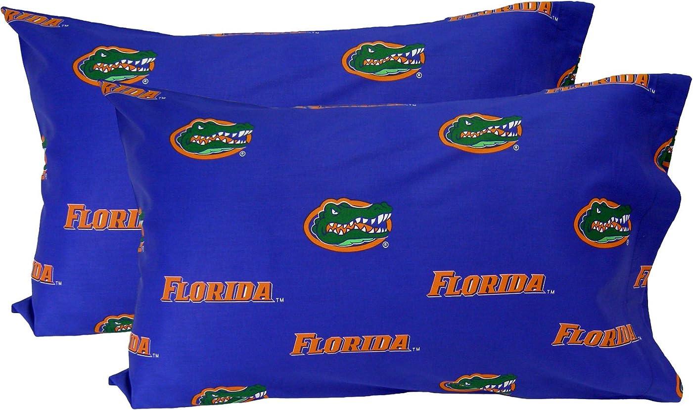 合併証明書パンチCollege Covers Florida Gatorsソリッド枕カバーのペア、キング