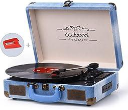 dodocool Tocadiscos Blue Tooth de Estilo Vintage, Giradiscos