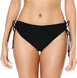 Women's Bikini Bottoms High Cut Swim Bottom Ruched Swimwear Briefs