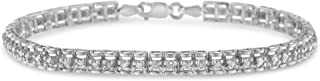 Sterling Silver Rose-cut Diamond Tennis Bracelet (1.00 cttw, I-J Color, I3 Clarity)