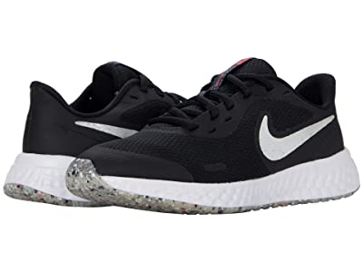 Nike Kids Revolution 5 MTF (Big Kid) (Black/White/Bright Crimson) Kid