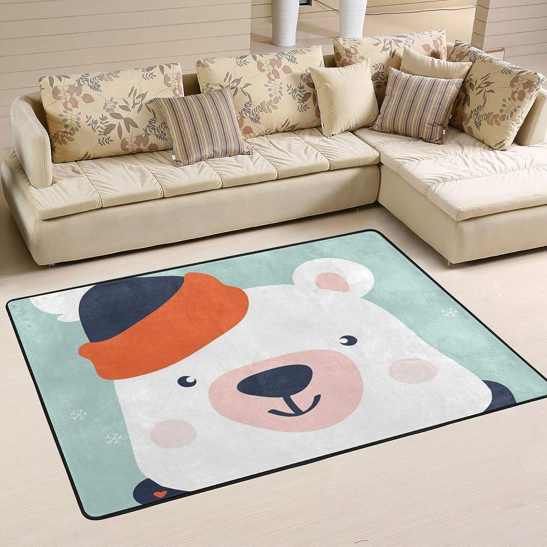 2 x 3 Floor Mat Kess InHouse Akwaflorell Knitted Lavender Green Pattern Decorative Door