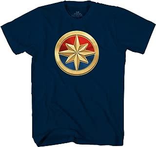 Marvel Captain Logo Symbol Superhero Adult Mens Graphic T-Shirt