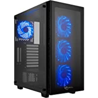 Rosewill ATX Mid Tower Gaming PC Computer Case with Blue LED Fans