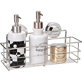 Miya 浴室 ラック 強力吸盤 ステンレス 収納 棚 キッチン お風呂場 バス用 (30*8*8cm)