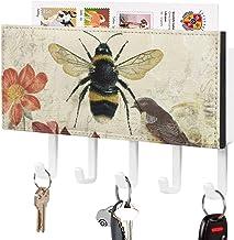 Clé murale - Crochet de clé mural, Support mural de trieuse de courrier, Organisateur de porte-clé de courrier, Honeybee B...