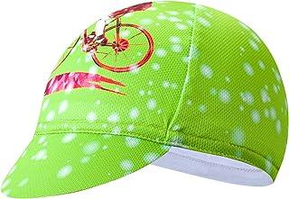 JPOJPO - Gorra de ciclismo para hombre, poliéster, transpirable, absorbe el sudor