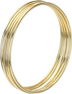 Metal Rings Hoops Macrame Rings for Dream Catcher and Crafts (Gold, 4 Inch)