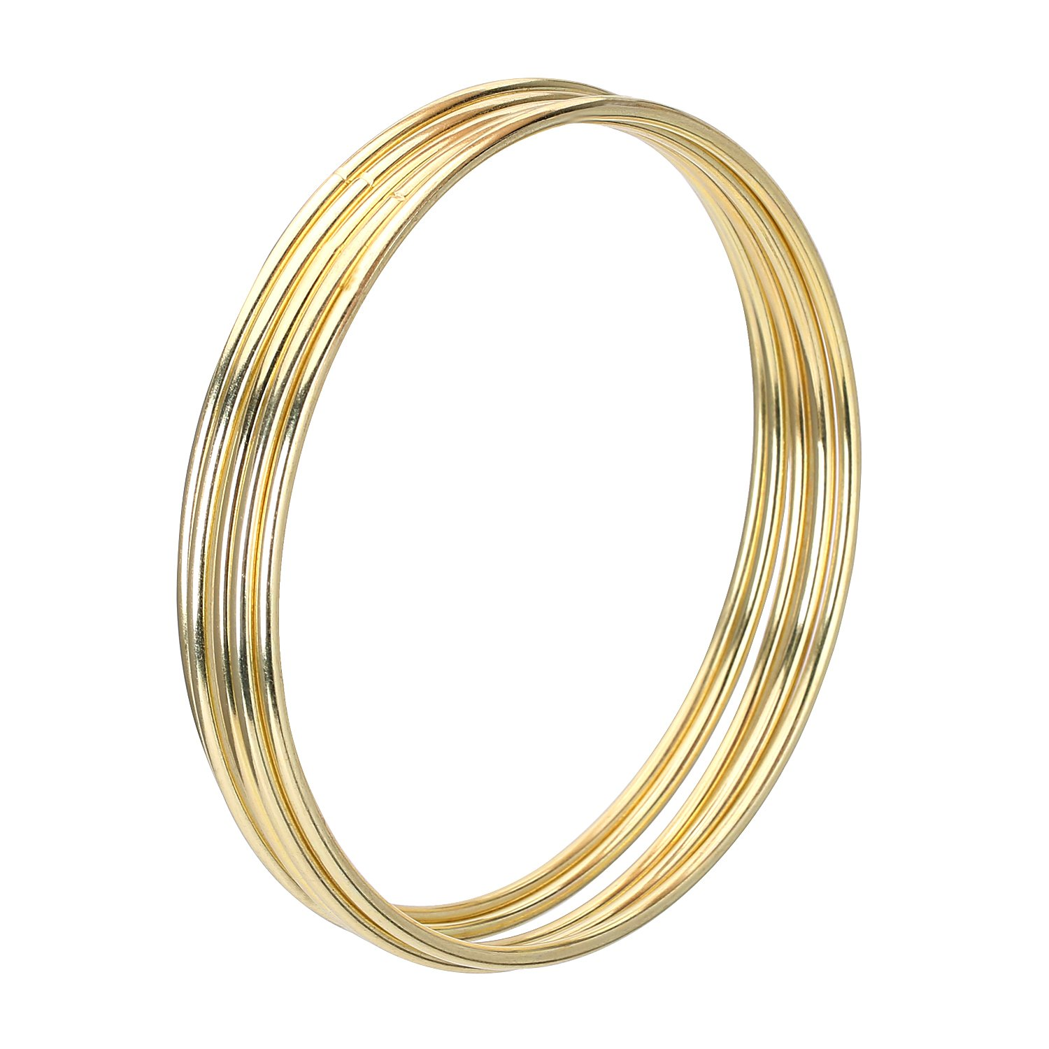 6-Pack Realeather Crafts Zinc Metal Rings 3-Inch