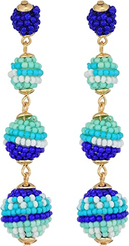 Rebecca Minkoff - Blair Beaded Ball Drop Earrings