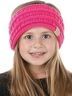 Kids Headwrap Headband Ear Warmer - Candy Pink