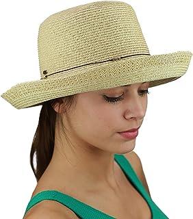 1f0fb02bcfa00b C.C Women's Paper Woven Beaded Slim Trim Summer Beach Bucket Sun Hat