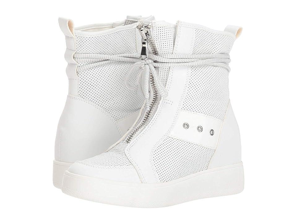 Steve Madden Anton Wedge Sneaker (White Leather) Women