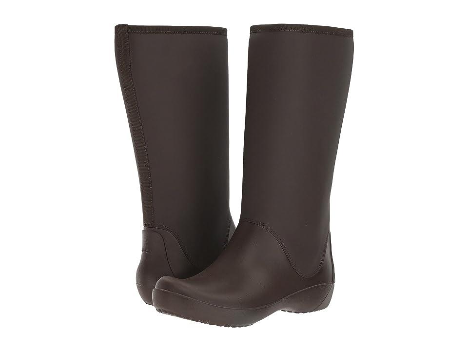 Crocs RainFloe Tall Boot (Espresso) Women