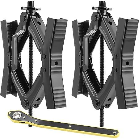 EPOARTIST Camper Wheel Chock Stabilizer Scissor 2 Sets for RV Travel Trailer tire chalks Rust-Proof