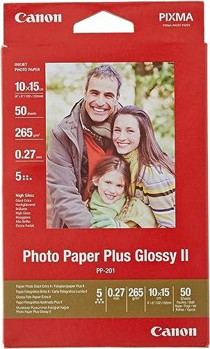 Canon PP-201 Papier Photo Brillant Format 10x15cm (50 feuilles)