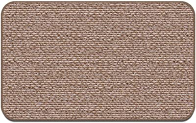 House, Home and More Skid-Resistant Carpet Indoor Area Rug Floor Mat - Praline Brown - 3' X 5' - Many Other Sizes to Choose from