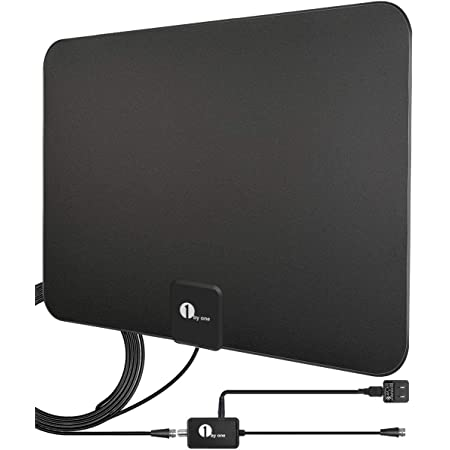 Amplified HD Digital TV Antenna - Support 4K 1080p and All Older TV's - Indoor Smart Switch Amplifier Signal Booster - Coax HDTV Cable/AC Adapter