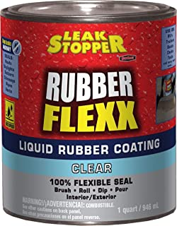 Leak Stopper Rubber Liquid Coating 1 Quart Clear